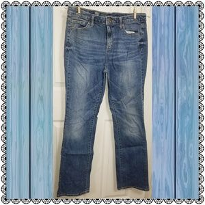 {Mossimo} Curvy Bootcut faded-wash blue jeans sz 8